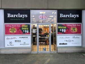 Storefront Sign - Barclays | Sign Wrap | Vinyl Wrap Toronto