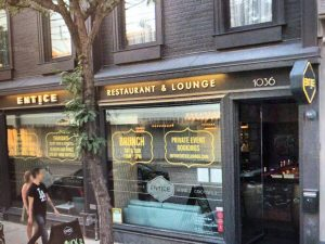 Storefront Sign - Entice | Sign Wrap | Vinyl Wrap Toronto