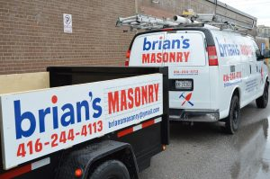 Car Lettering and Decal - Brian's Masonry Truck Letting and Decal - Vinyl Wrap Toronto - Stickers