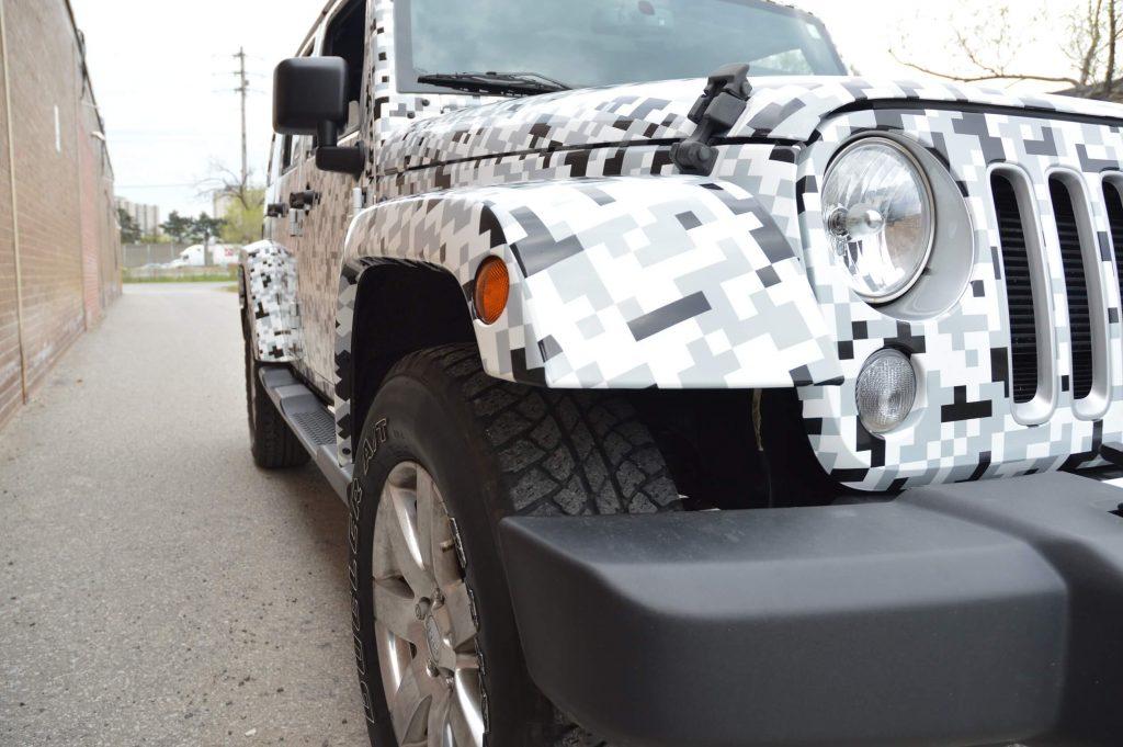 Jeep Full Car Wrap Front - Vinyl Wrap Toronto
