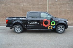 Toronto Car Wrap - Nusens Lettering & Decal Side View