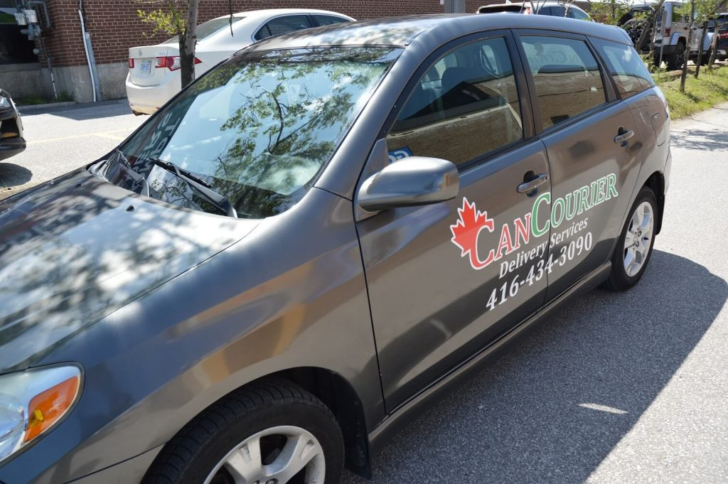 Car Lettering | Side view |Can Courier- Vinyl Wrap Toronto