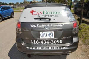 Car Lettering and Decal - Back View - Vinyl Wrap Toronto