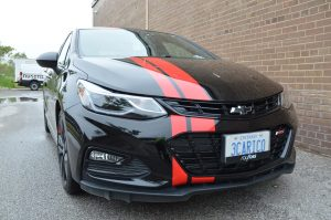 Red racing Stripe - 3M Film Wrap Series 1080   Vinyl Wrap Toronto - Vehicle Wrap In Toronto