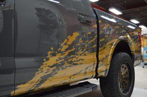 Truck Partial Wrap - Splatter Wrap Vinyl Wrap Toronto - Vehicle Wrap In Toronto - Print Shop - Splatter effect wrap