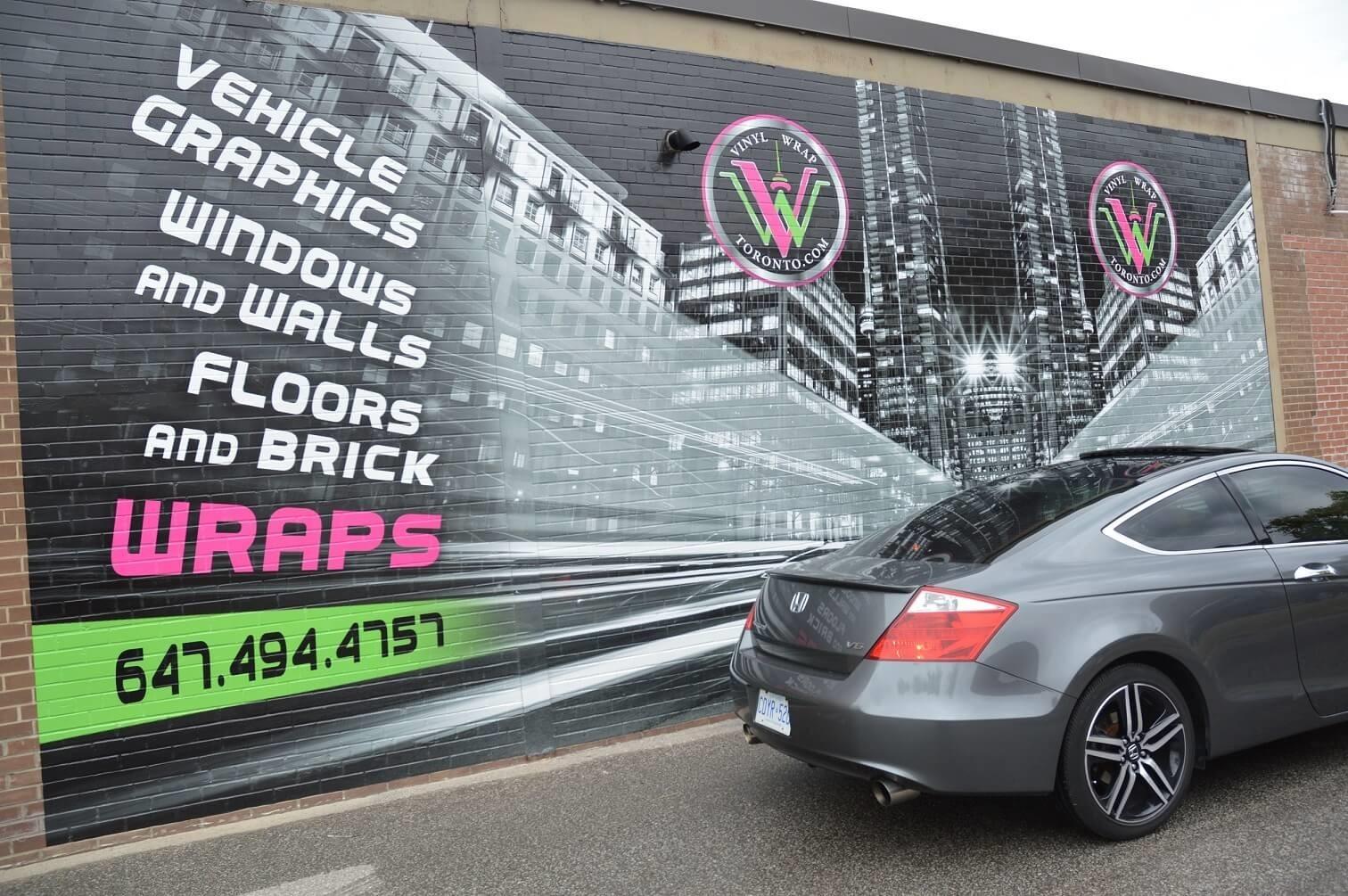 Wall Wrap Toronto Toronto Wall Graphic Brick Wrap