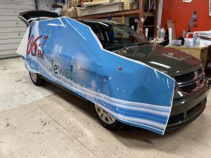 Vinyl Wrap Toronto - Vehicle Wrap In Toronto - Print Shop - Jewel Wrap in Progress
