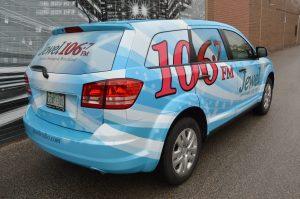 Vinyl Wrap Toronto - Vehicle Wrap In Toronto - Print Shop - Jewel Radio rear side