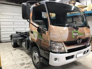 Vinyl Wrap Toronto - Vehicle Wrap In Toronto - Print Shop - Rock Bottom Front - Full Truck Wrap