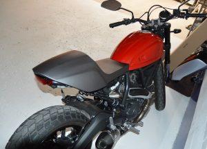 Vinyl Wrap Toronto Ducatti Scrambler 2017 Avery Dennison Black Motorcycle Full Before