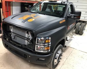 Vinyl Wrap Toronto International CV Series 2020 Avery Dennison Black Truck Full BamBam Front