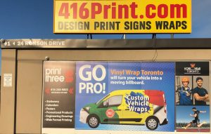Vinyl Wrap Toronto - Window Signage 2019 Yellow Banner Fitness365 Front Sign