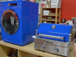 Vinyl Wrap Toronto Random BBQ Washing Machine Blue