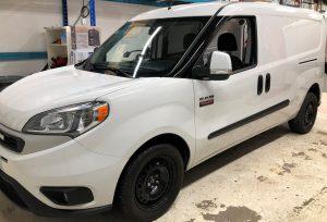 Vinyl Wrap Toronto Ram ProMaster City 2020 Avery Dennison White Van Decal Surgically Clean Air Before