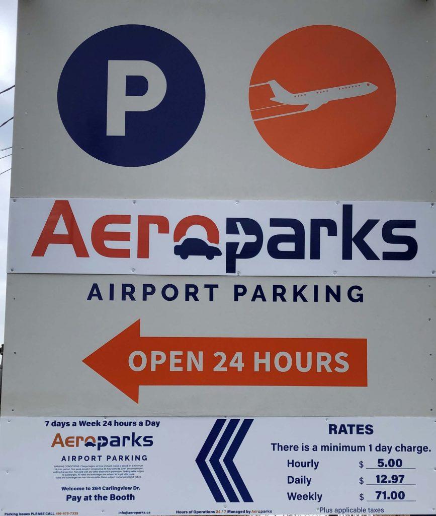 Vinyl Wrap Toronto 2020 Avery Dennison White Equipment Decal Aeropark Main - Parking Signs