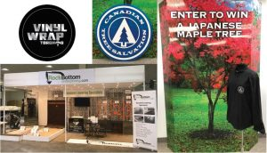Vinyl Wrap Toronto 2020 Avery Dennison White Signs Full Collage RockBottom Canadian Tree Salvation - Trade Show Signs