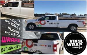 Vinyl Wrap Toronto Ford F-150 2020 Avery Dennison White Truck Decal Nusens Collage - Truck Decals