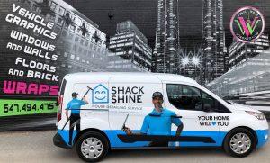 Vinyl Wrap Toronto Ford Transit Connect 2020 Avery Dennison White Van Full Shack Shine Complete