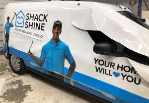 Vinyl Wrap Toronto Ford Transit Connect 2020 Avery Dennison White Van Full Shack Shine Installation
