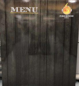 Vinyl Wrap Toronto Menu Board magnet Firehouse Grill Vinyl Signs