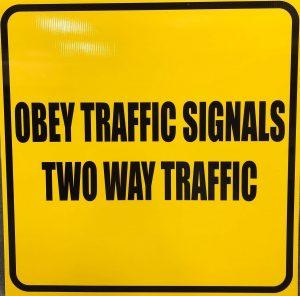 Vinyl wrap toronto Traffic signals Yellow Road Signs Vinyl