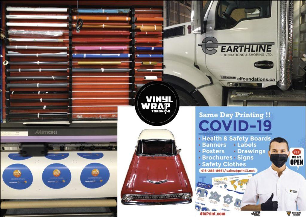 Vinyl Wrap Toronto Covid-19 Car Truck Vinyl wrap Decals Walmart - Social Distancing