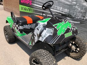 VinylWrapToronto Ezgo 2020 Avery Dennison Green Recreational Full Wrap Front After