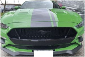 Vinyl Wrap Toronto Ford Mustang Coyote Green Decals After Front