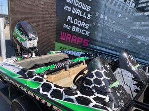 VinylWrapWrap Stratos Boat Full Wrap Avery Dennison Evinrude Inside After