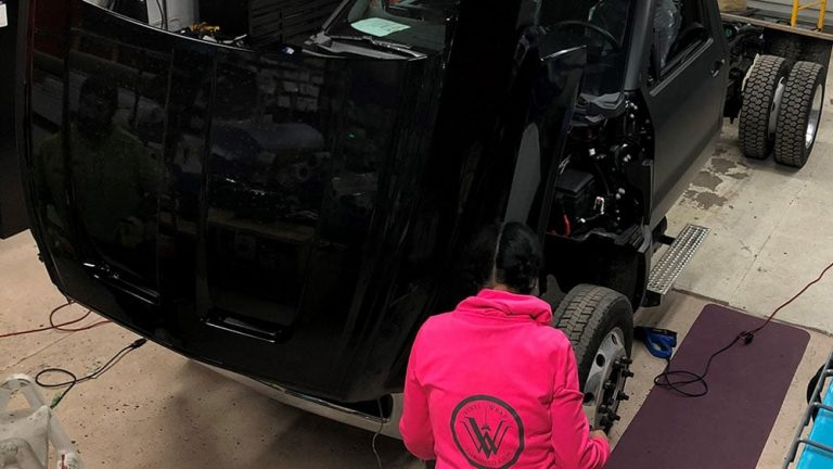 Chevrolet Chevy - Silverado - 2019 Single Cab Chassis 1 - Vinyl Wrap Toronto - Lettering & Decals - Full Truck Wrap - Installation Process