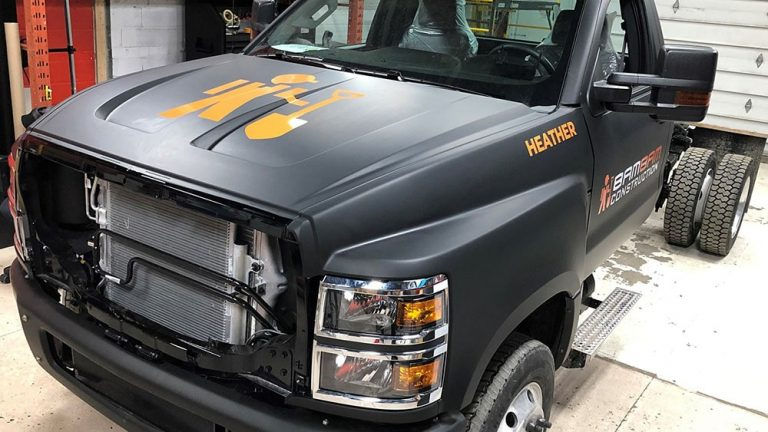 Chevrolet Chevy - Silverado - 2019 Single Cab Chassis 2 - Vinyl Wrap Toronto - Lettering & Decals - Full Truck Wrap