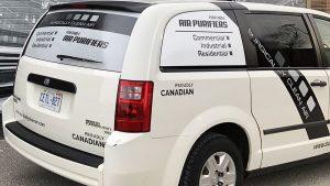 Dodge - Caravan - 2018 - Decals - Surgically Clean - Lettering - Van Wrap in Brampton - Vinyl Wrap Toronto