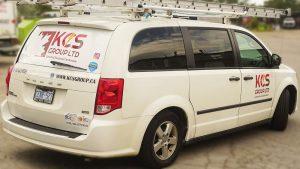 Dodge - Grand Caravan - 2011 - Decals - KCS - Lettering - Vinyl Wrap Toronto - Van Wrap in Mississauga
