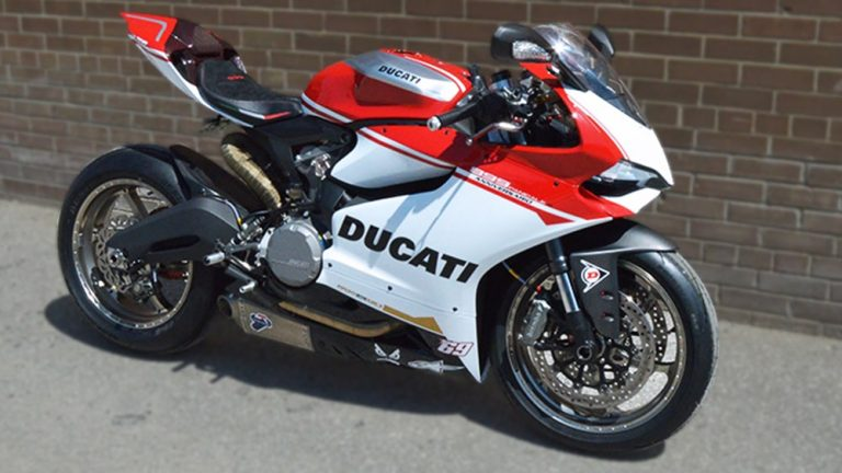 Ducatti 899 - Full Motorcycle Wrap - Personal side - Vinyl Wrap Toronto - Vehicle Wrap in GTA