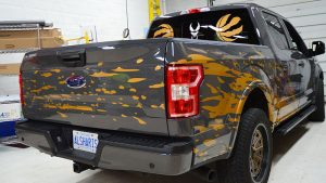 Ford F-150 2019 Super Crew 5.5 Box Decals - Personal 4 - Vinyl Wrap Toronto - Lettering & Decals - Car Wrap - Vehicle Wrap