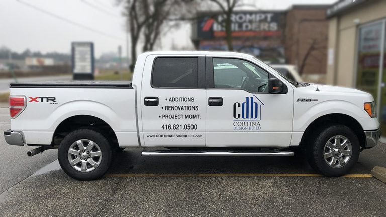 Ford - F150 - SuperCab - 5.5 Box - Decals - Cortina - Lettering - Stickers - Vinyl Wrap Toronto - Vehicle Wrap in Etobicoke