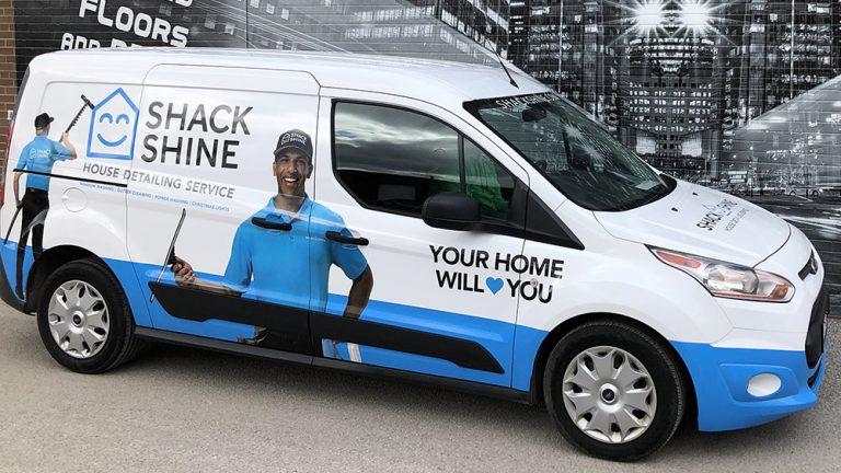 Ford - Transit Connect XLT - 2018 - Full Van Wrap - ShackShine - Vinyl Wrap Toronto - Vehicle Wrap in Etobicoke