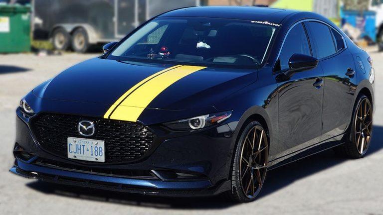 Mazda - 3 - 2019 - Decals - Personal - Racing Stripes - Vinyl Wrap Toronto - Vehicle Wrap in Etobicoke