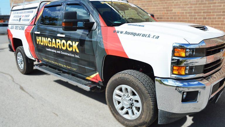Partial Wrap Truck Hungarock Seirra Side After - Vinyl Wrap Toronto - Truck Wrap, decals, full wrap, Avery Dennison, 3M, GTA