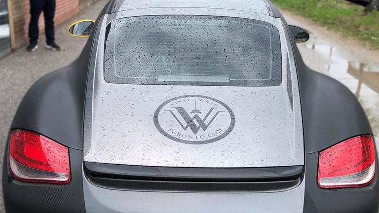 Porsche Cayman - 2014 - Full Wrap - Personal-back - Vinyl Wrap Toronto - Car Wrap in GTA - Decals - Tinting - Racing Stripes