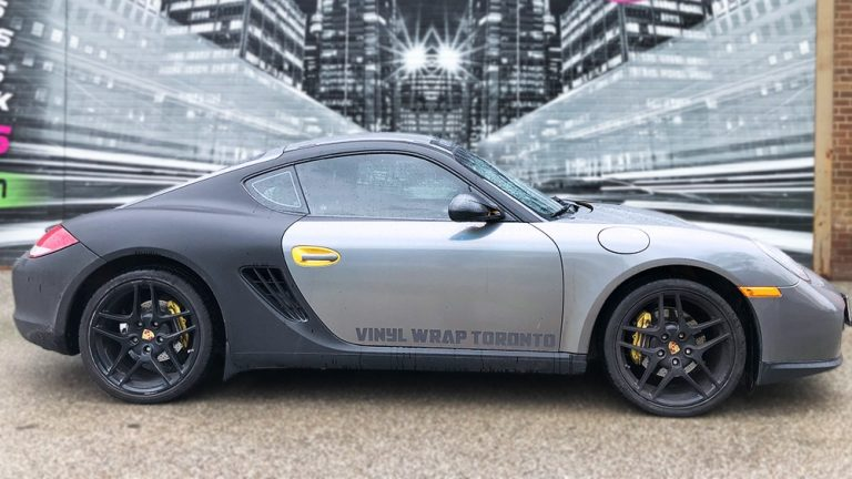 Porsche Cayman - 2014 - Full Wrap - Personal - side - Vinyl Wrap Toronto - Lettering & Decals - Tinting - Paint Protection - Car Wrap in Mississauga