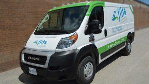 RAM - Promaster - Van - 2019 - Partial Van Wrap - Filta - Vinyl Wrap Toronto - Vehicle Wrap in Mississauga - Avery Dennison & 3M