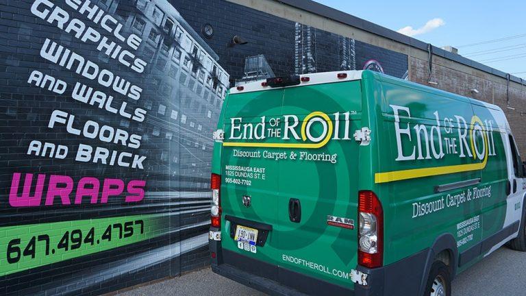 RAM - Promaster - Van - 2020 - Full - Rear View - End of Roll - Vinyl Wrap Toronto - Vehicle Wrap in Etobicoke
