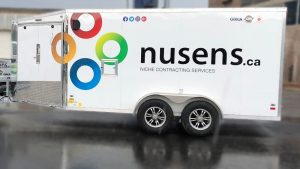 Trailer Wrap - Nusens Trailer Wrap, Lettering and Decal - Vinyl Wrap Toronto - Avery Dennison & 3M - Object in Wrap in GTA
