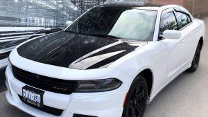 Vinyl Wrap Toronto Dodge Charger Black Gloss Partial Car Wrap Avery Dennison 2020 - Vinyl Wrap Toronto - Vehicle Wrap in Vaughn