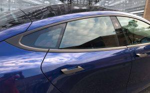 Vinyl Wrap Toronto Tesla Brushed Black Model S After Decals Side - Vehicle Wrap in Toronto
