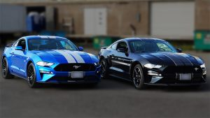 Ford Mustang - 2019 California Special Blue and Black - Stripes - Personal - Stripes - Vinyl Wrap Toronto
