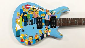 Guitar Wrap - Object Wrap - Vinyl Wrap Toronto - Equipment Wrap - The Simpsons - Custom Design - Mississauga