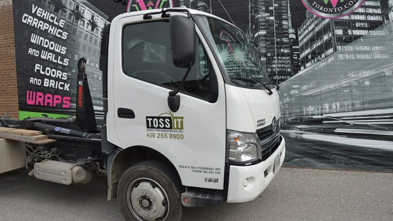 2016 Hino 195 - Decals - Toss It done by Vinyl Wrap Toronto - Print Shop in Toronto