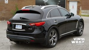 Infiniti FX50 - Partial Wrap - Carbon Fibre - Vinyl Wrap Toronto - Back - Avery Dennison & 3M - Decals - Vehicle Wrap in GTA
